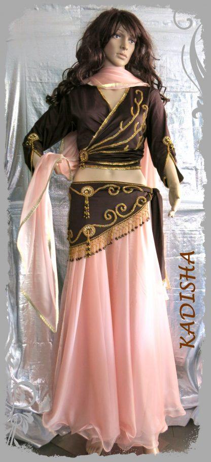 Kombi 4-tlg. in braun/rosa Langarm, Größe XL